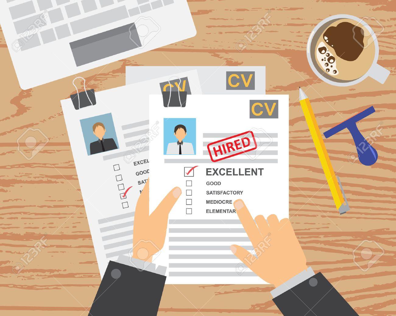 Entrevista De Trabajo (cv) De Fondo Infografía Y Elementos. Puede ...
