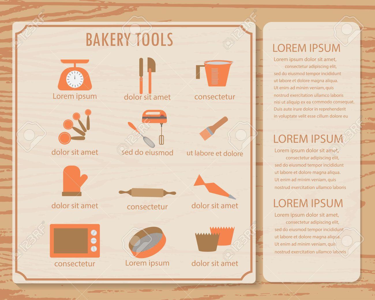 Infografía De Libros De Cocina De Fondo Y Elementos. Hay ...