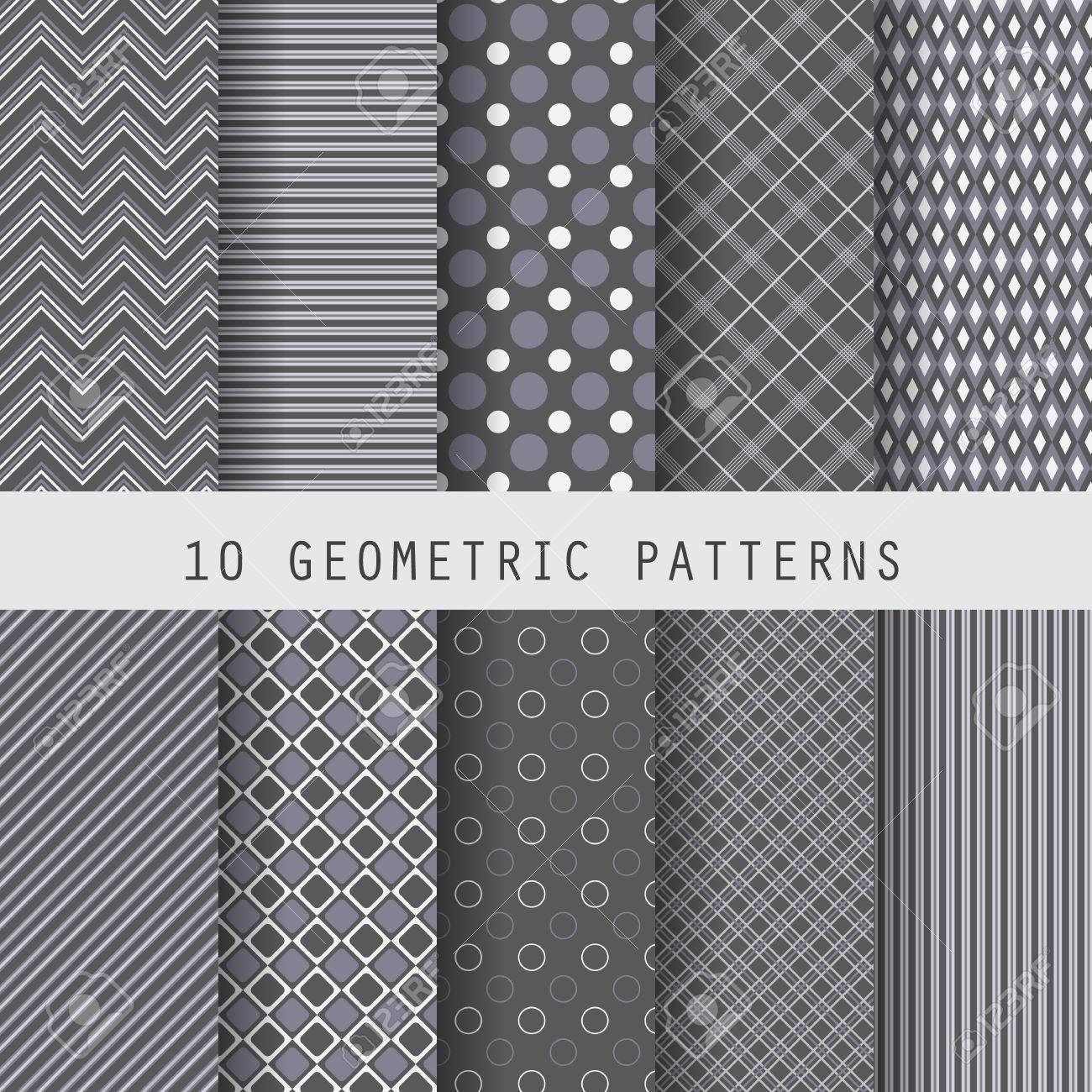 10 の黒幾何学模様 ビジネス テンプレート 壁紙 パターンの