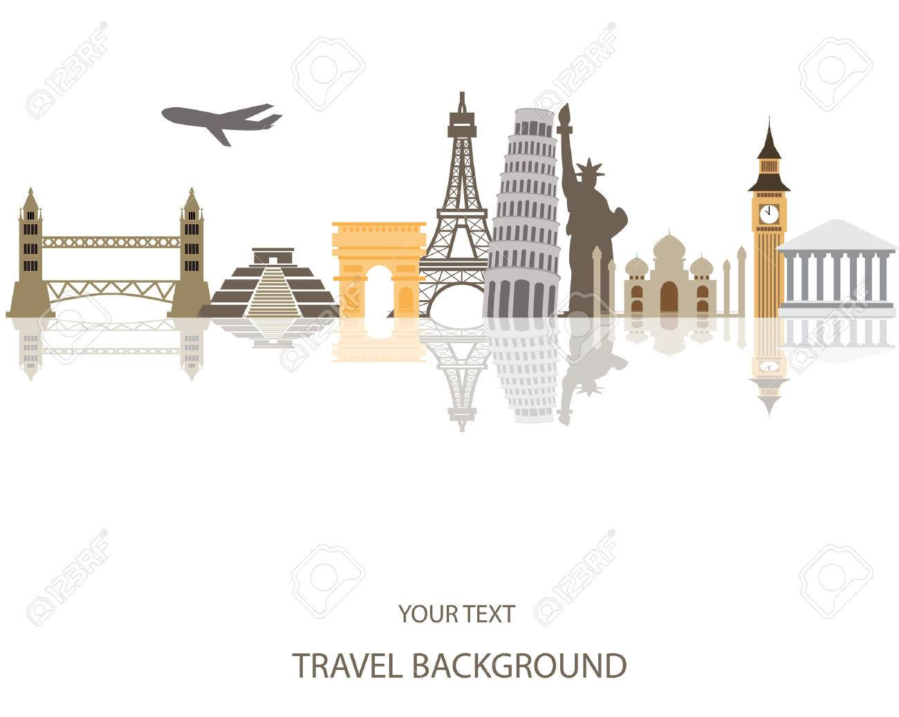 world travel background Stock Vector - 41936452