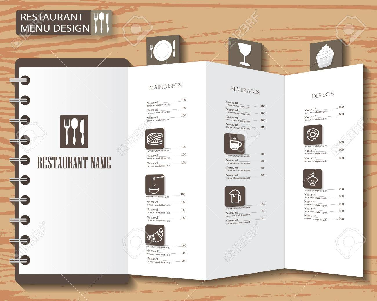 Restaurant Menu Infographics Background And Elements Design - Restaurant brochure template