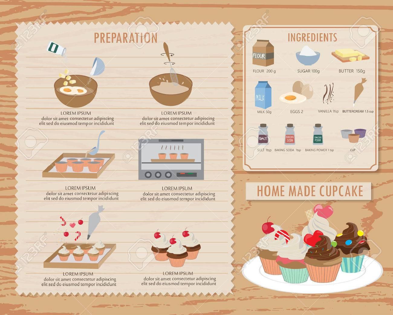 Wie Kuchen Empfang, Essen Und Süße Hintergrund Und Infografiken ...