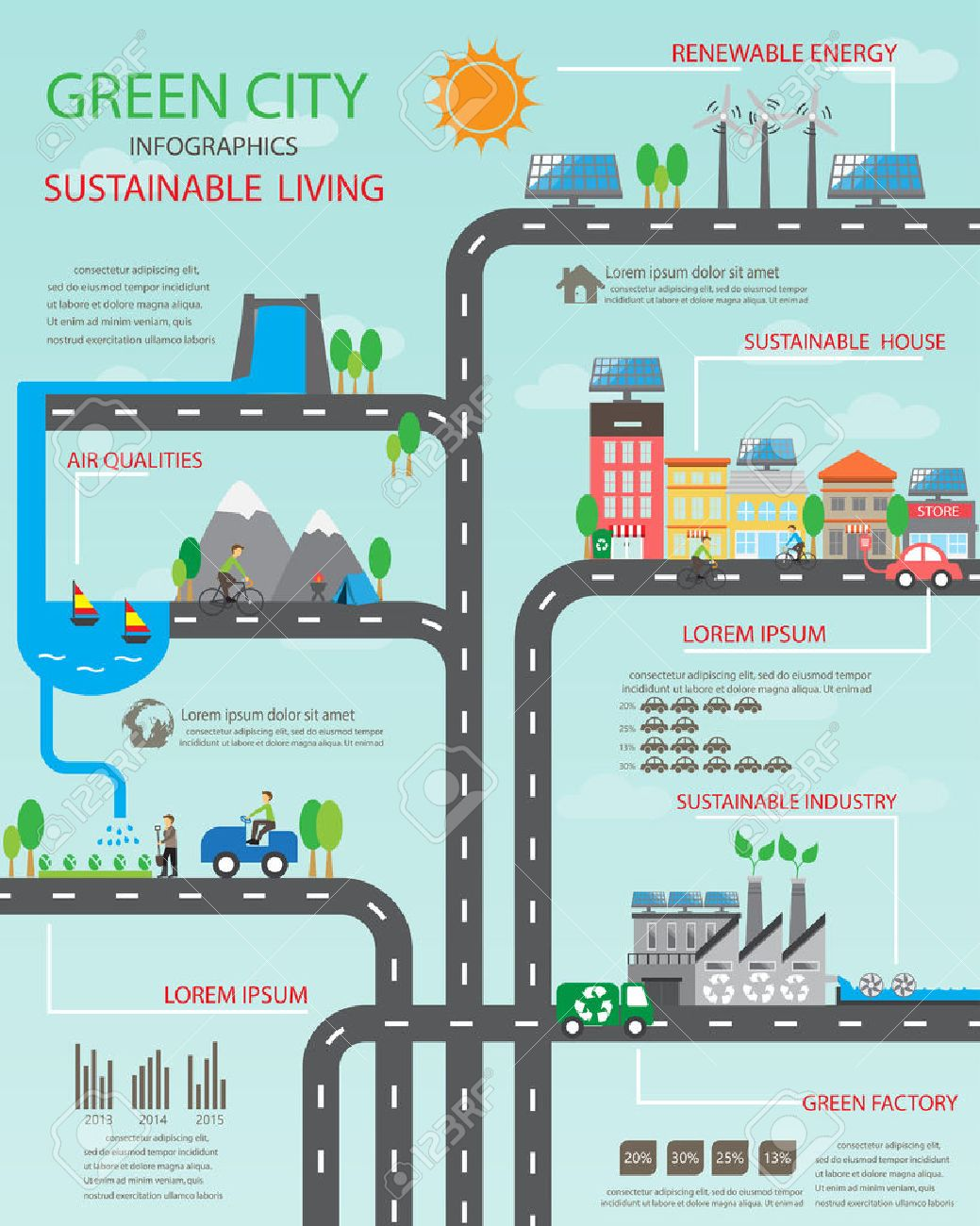 environment ecology infographic elements environmental ecosystem can be used for background