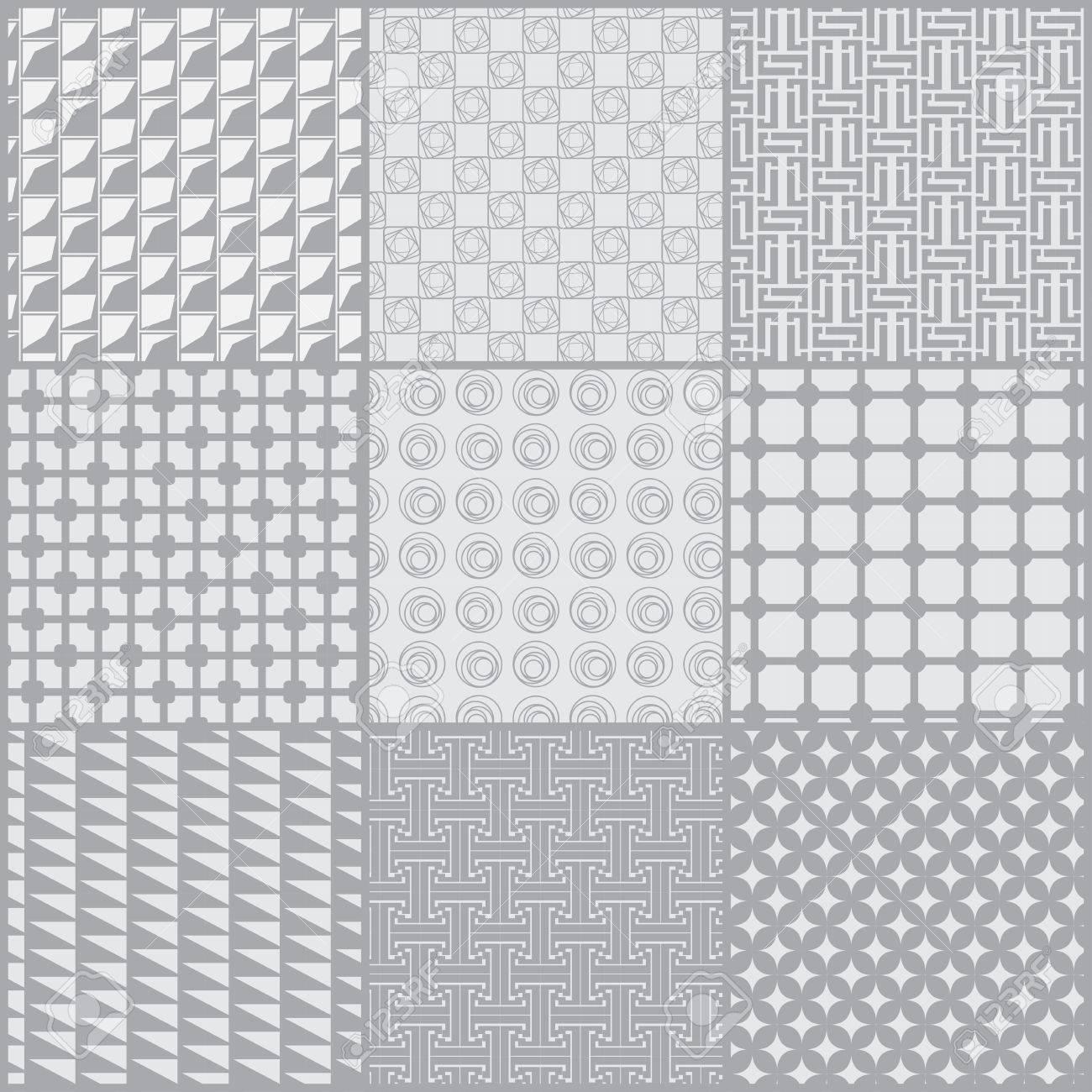 9 Modeles Differents Texture Geometrique Gris Doux Peut Etre Utilise Pour Le Papier Peint Motifs De Remplissage Fond De Page Web