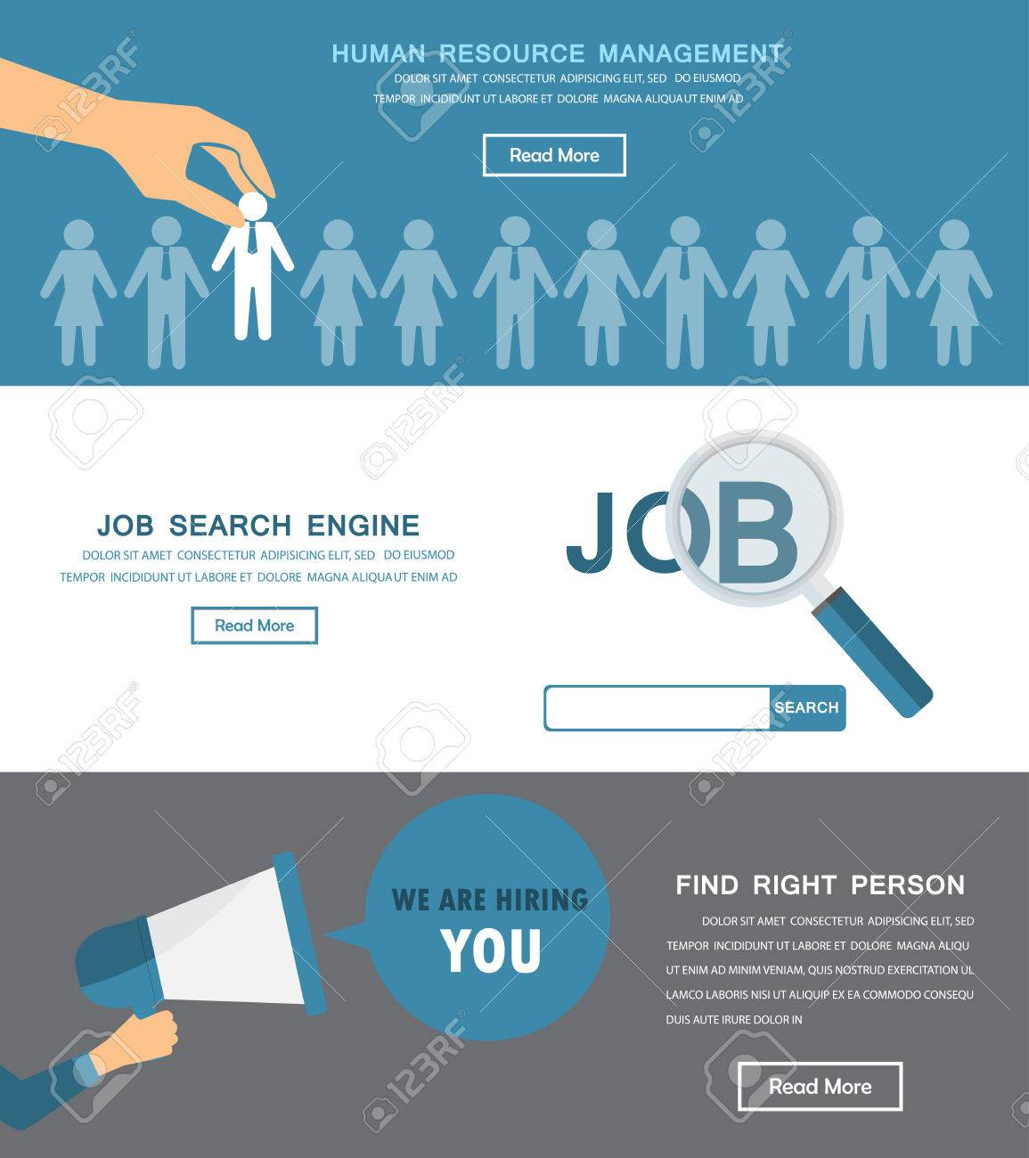 Human Resource HR Infographics Element And Background - Recruitment brochure template