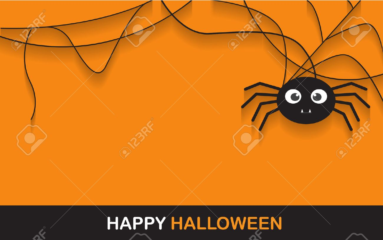 Halloween Spider Concept. Banner Background For Halloween Party ...