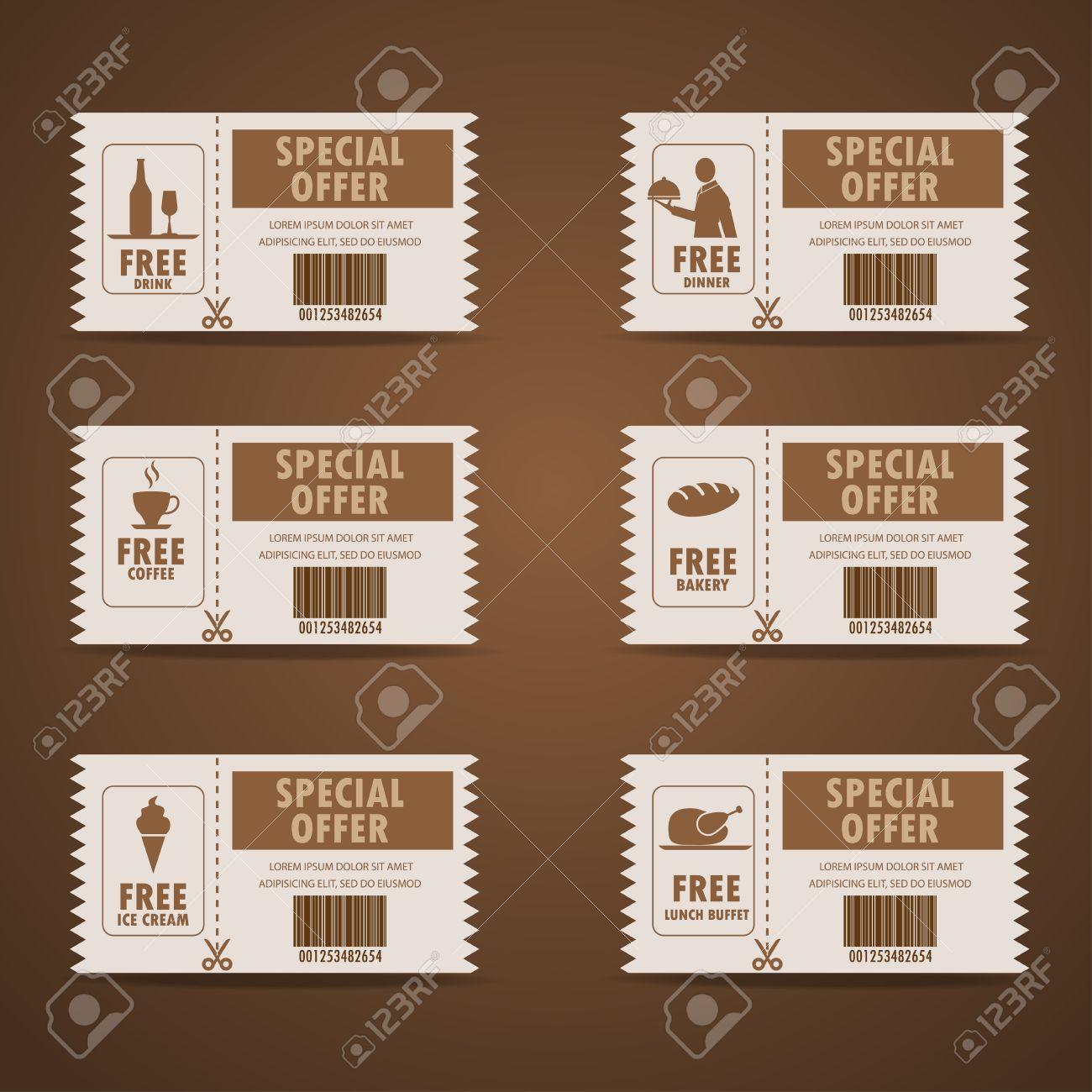 Chque Cadeau Certificat Coupon Menu De La Nourriture Et Carte Visite Modle Dlment Tags Peut Tre Utilis Pour Dachats