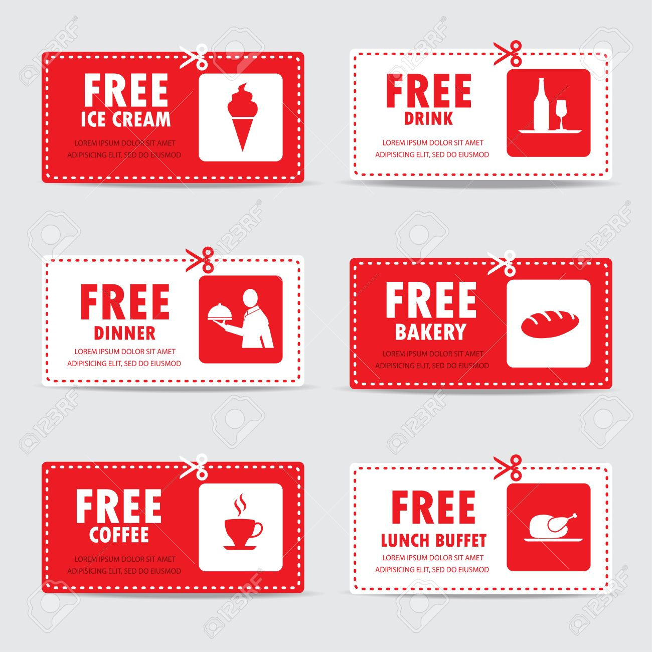 Gift voucher certificate coupon food menu and business card tags gift voucher certificate coupon food menu and business card tags element template can yelopaper Image collections