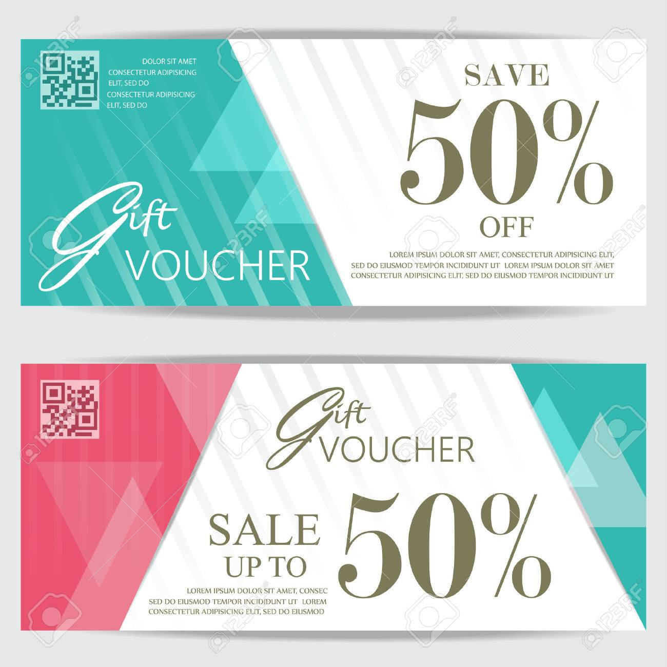 Gift Voucher Certificate Coupon Template, Cute And Modern Style ...