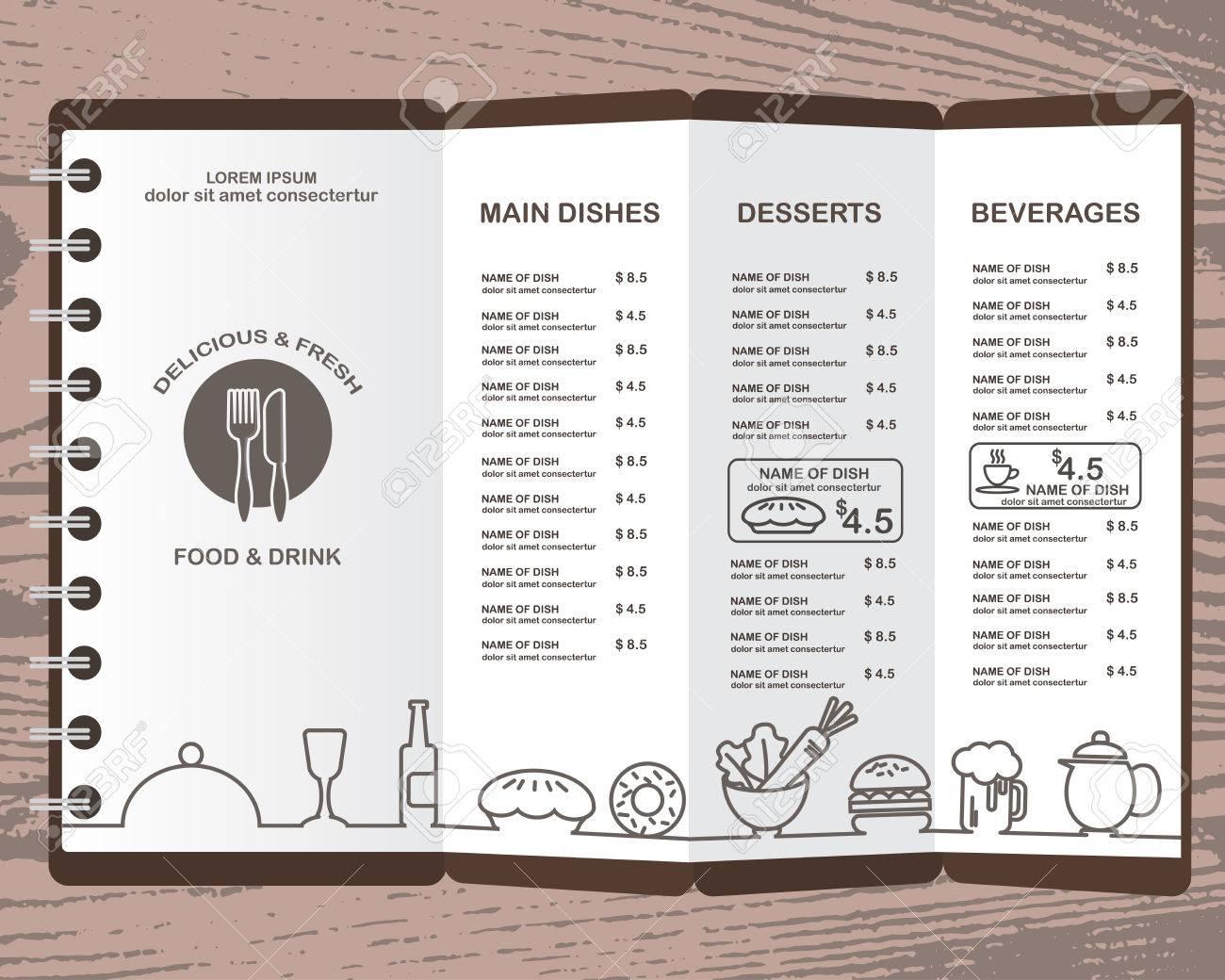 Menu Del Ristorante, Infografica Sfondo Ed Elementi Di Design. Può ...