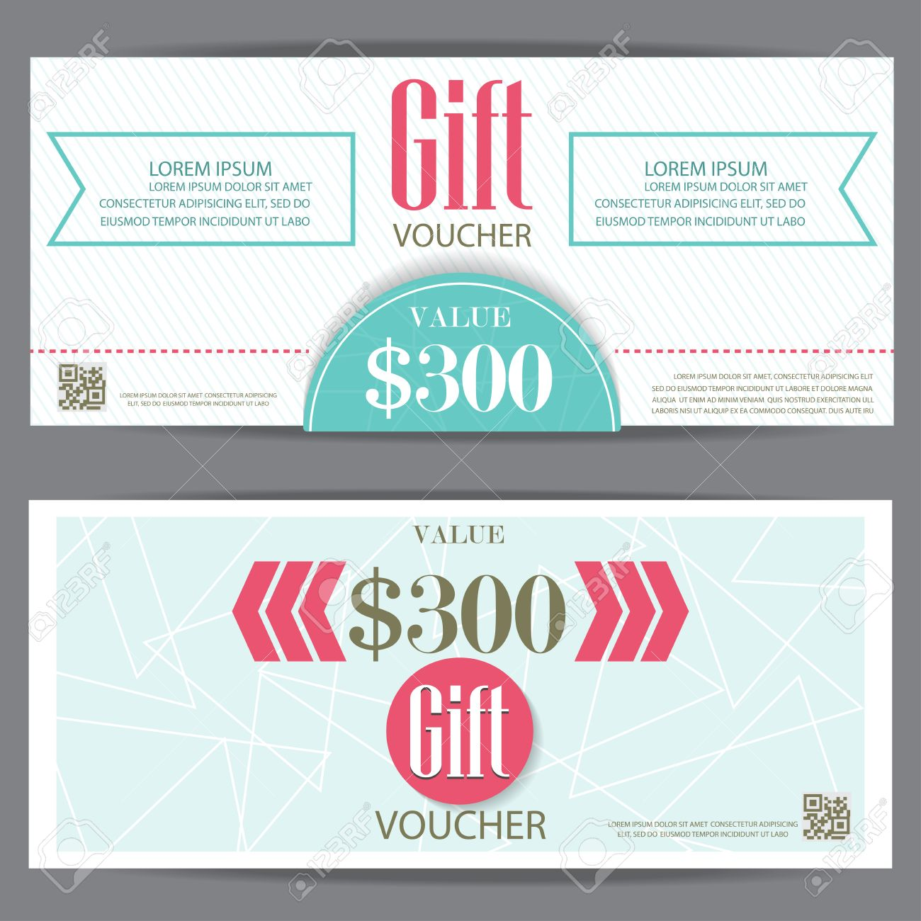 Gift Voucher Certificate Coupon Template, Cute And Modern Style. Can Be Use  For Business