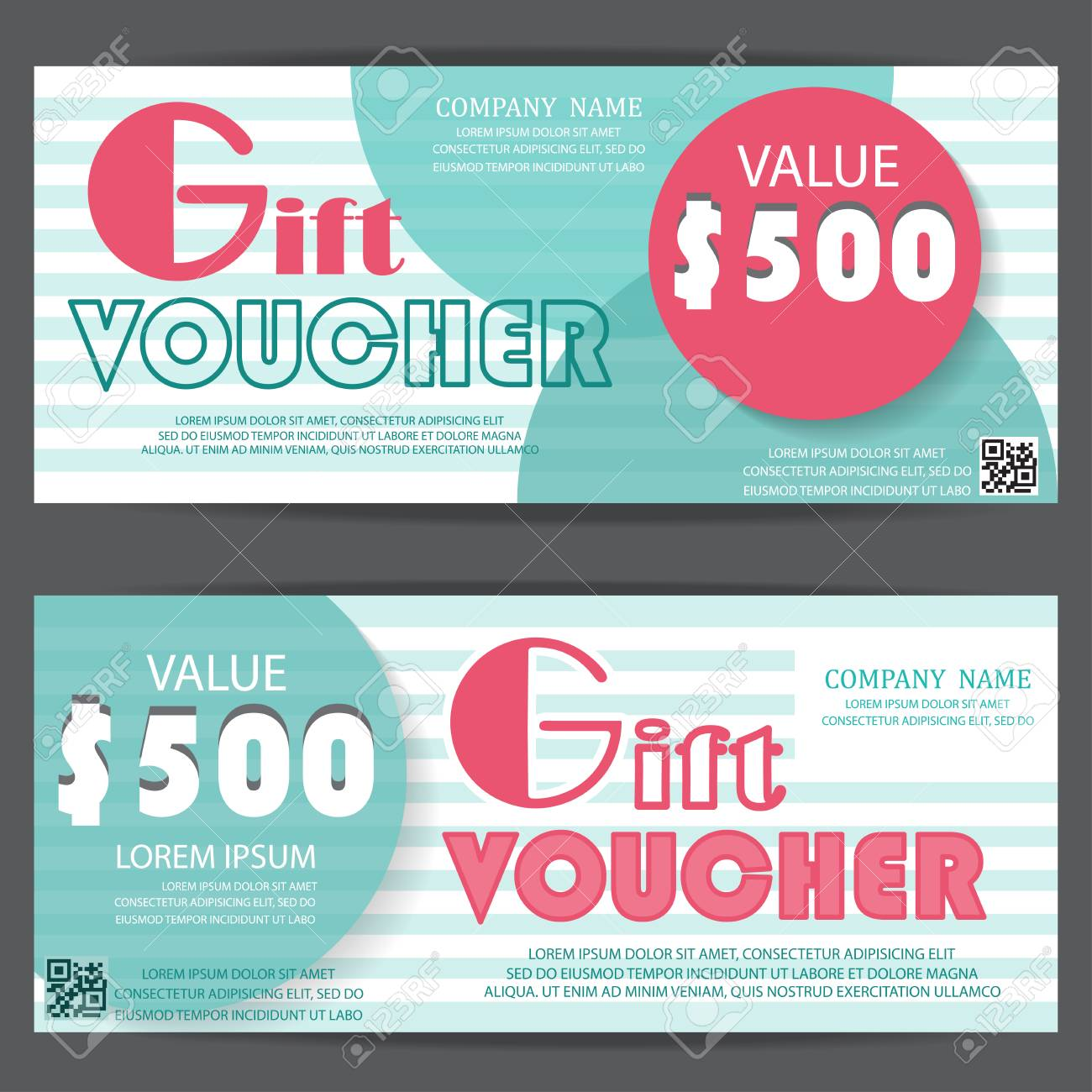 Gift voucher certificate coupon template cute and modern style gift voucher certificate coupon template cute and modern style can be use for business fbccfo Gallery