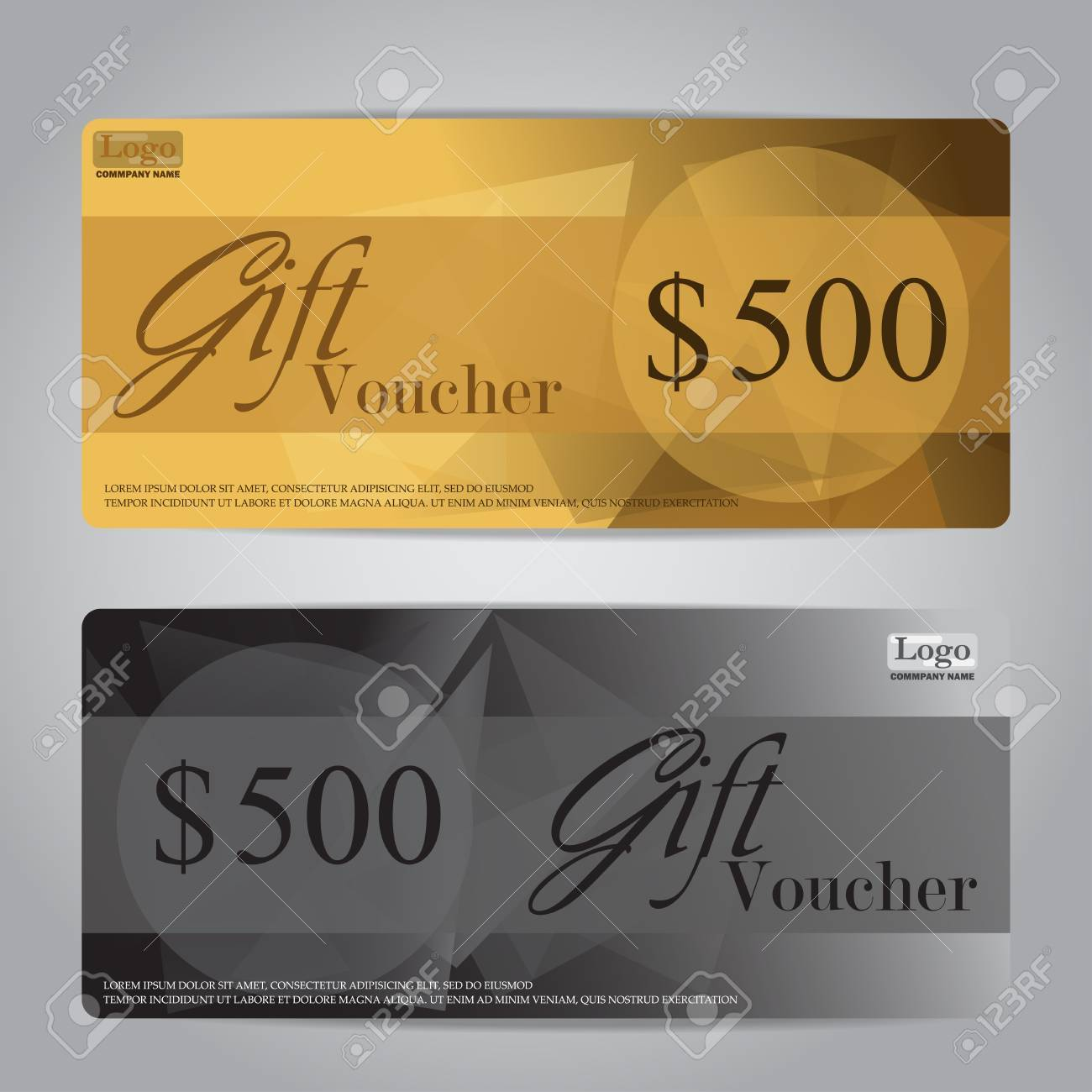 Gift Voucher Certificate Coupon Template, Can Be Use For Business Shopping  Card, Customer Sale