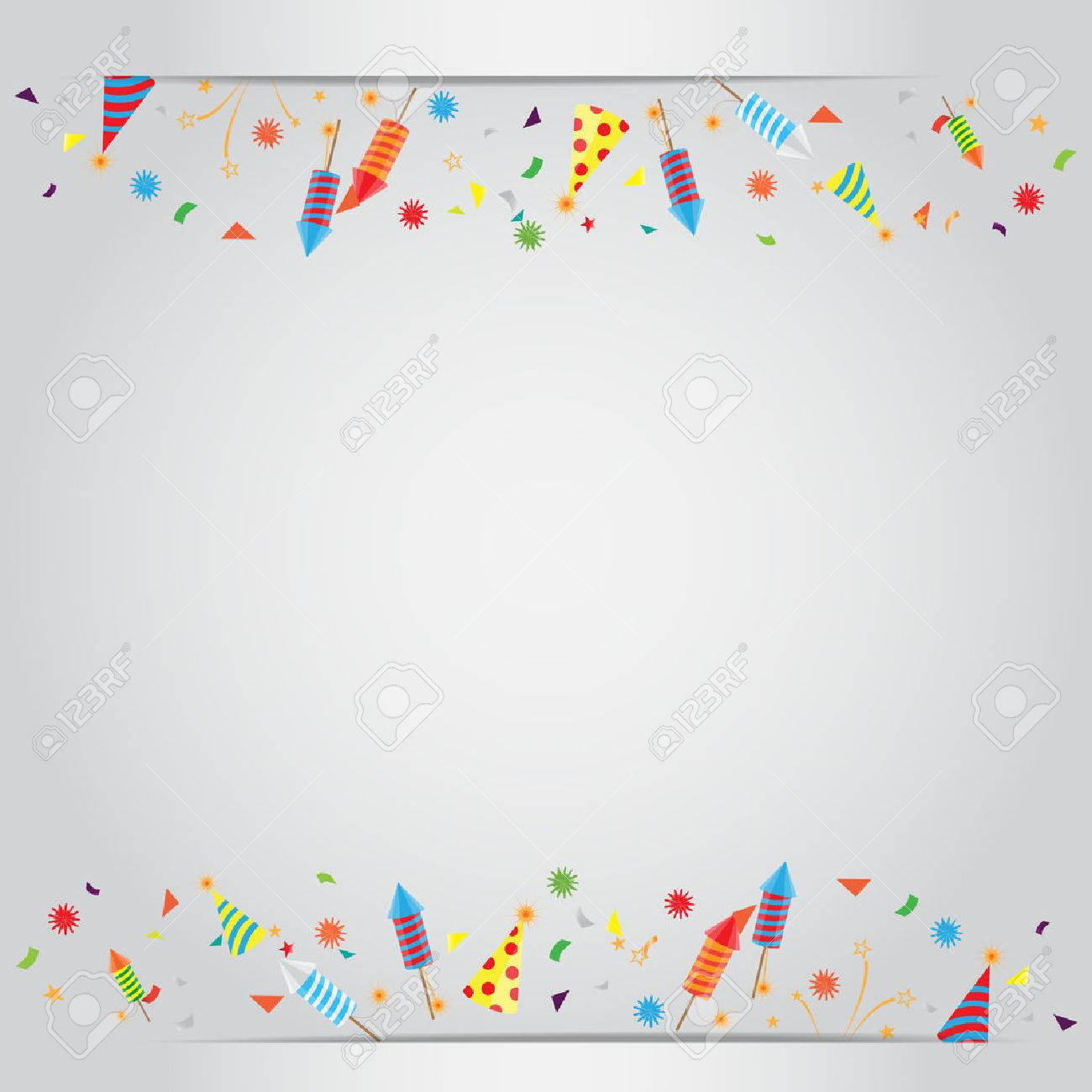 confetti and firework background can be use for celebration new year birthday
