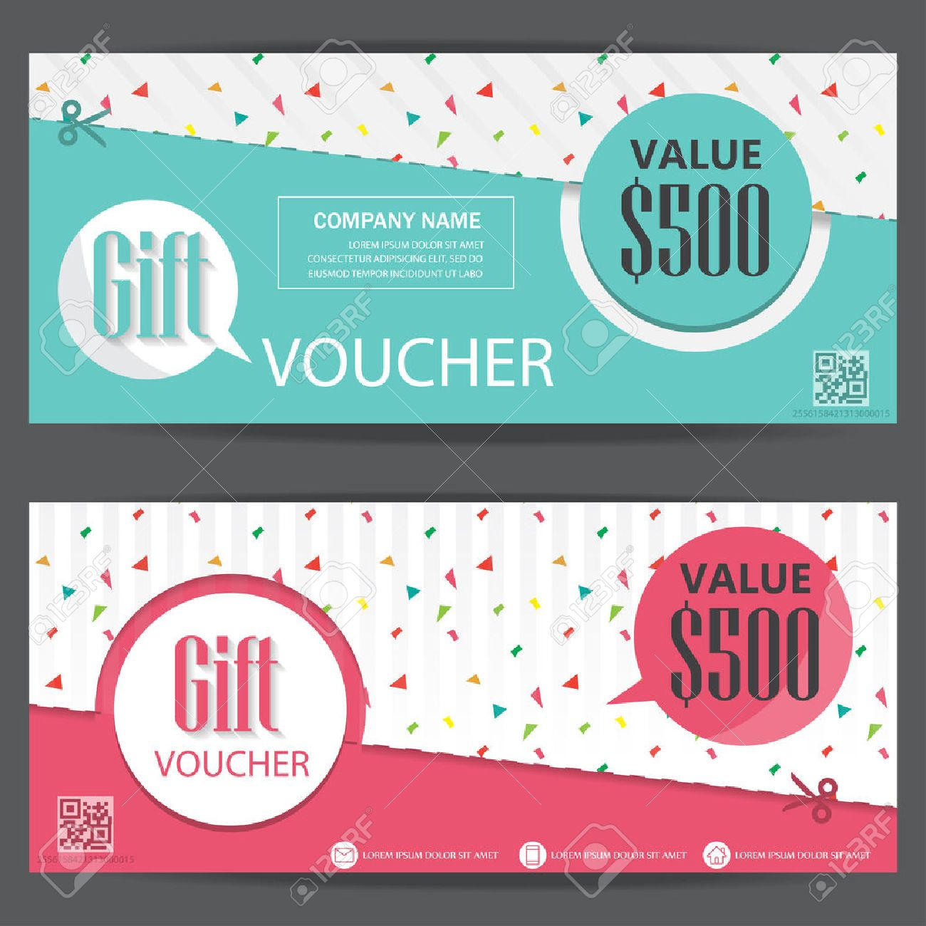gift voucher certificate coupon template cute and modern style vector gift voucher certificate coupon template cute and modern style can be use for business shopping card customer and promotion layout