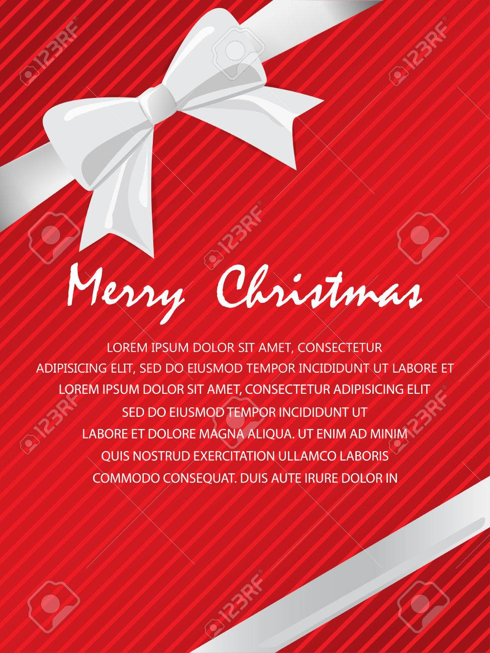 Christmas Holiday And New Year Gift Voucher Certificate Coupon ...