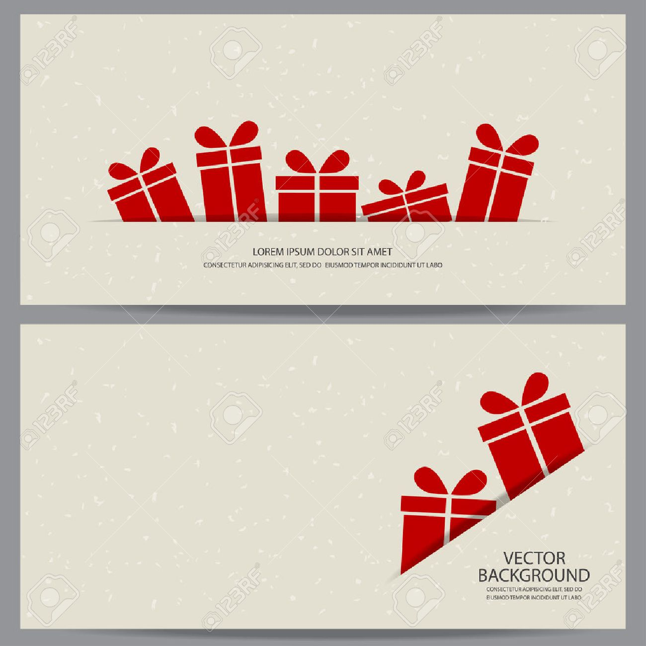 christmas and new year gift voucher certificate coupon template. can be use for business shopping card, customer sale and promotion, layout, banner, web design. vector illustration - 48758303