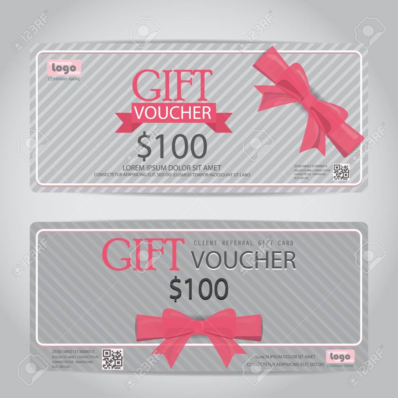 Gift Voucher Certificate Coupon Template, Cute Style Design. Can Be Use For  Business Shopping
