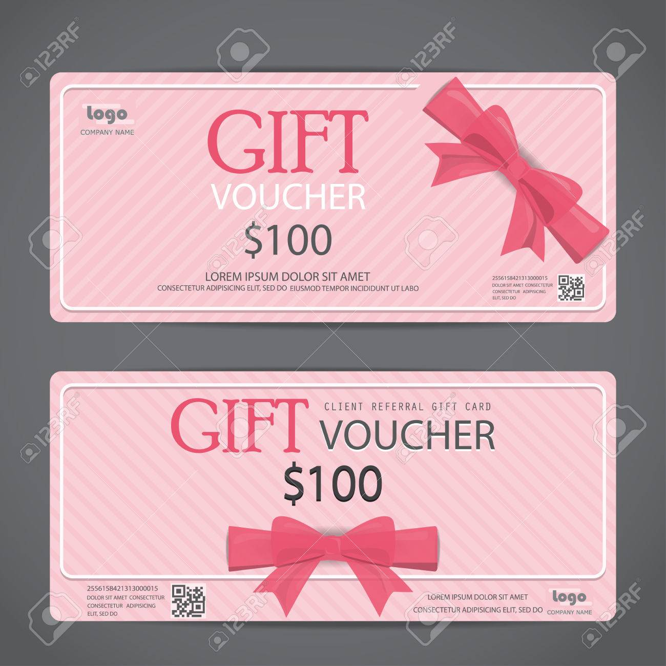 Girl Gift Voucher Certificate Coupon Template, Sweet Pink Cute Design. Can  Be Use For