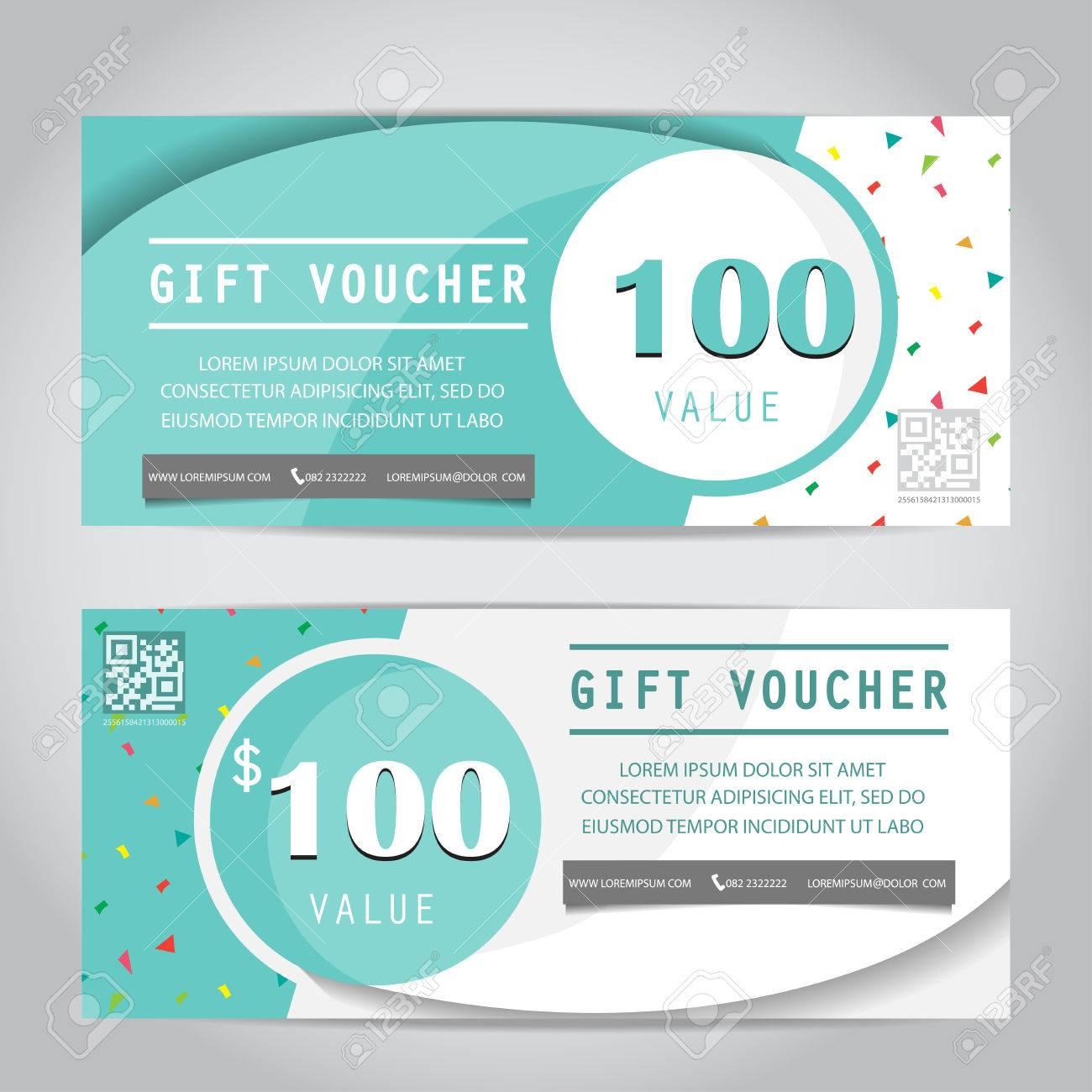 confetti gift voucher certificate coupon template, can be use for business shopping card, customer sale and promotion, layout, banner, web design. vector illustration - 48758448