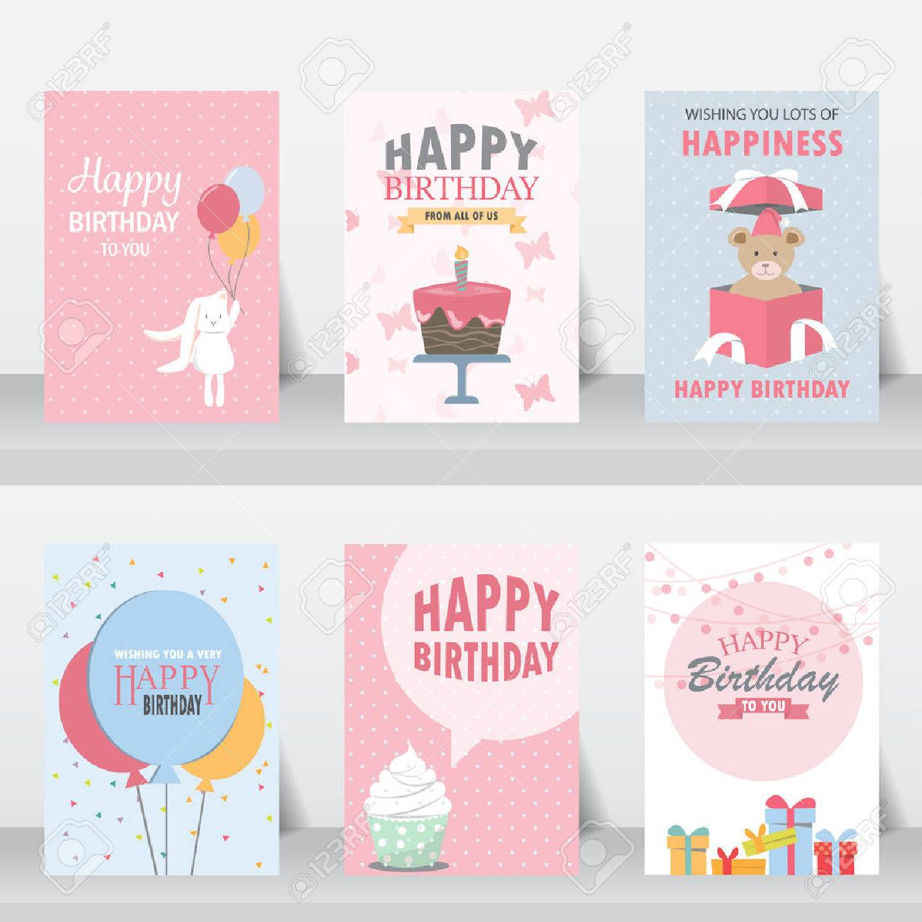Birthday, Holiday, Christmas Greeting And Invitation Card. There ...