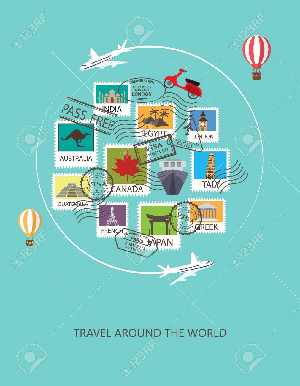 world travel background. - 53611269