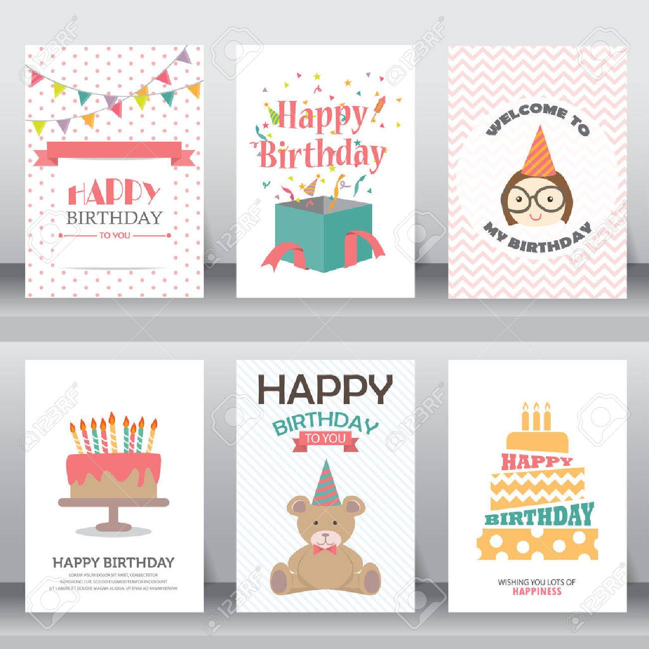 happy birthday, holiday, christmas greeting and invitation card. - 53611332
