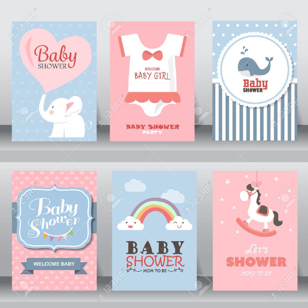 happy birthday, holiday, baby shower celebration greeting and invitation card. - 53611536