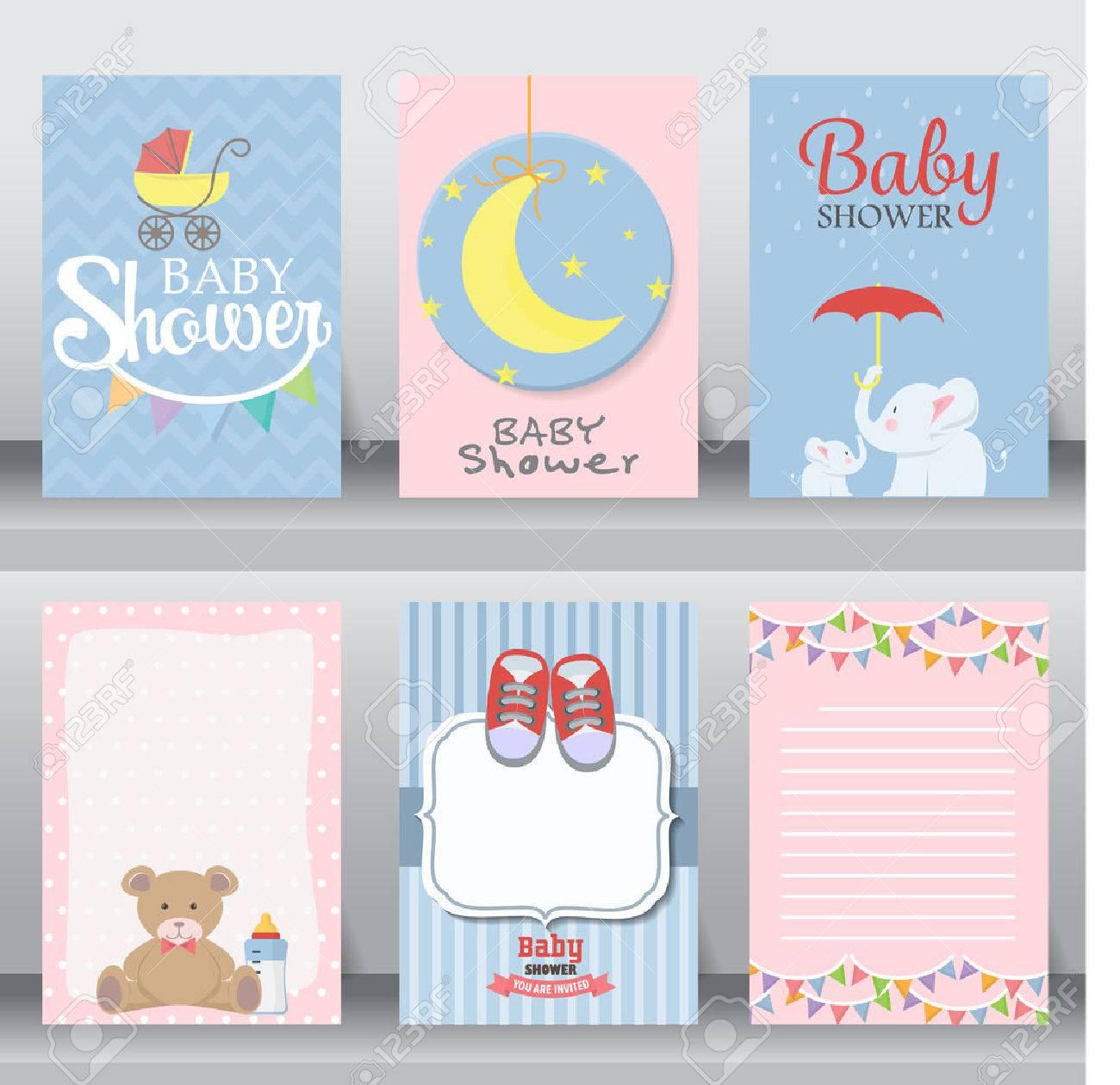Feliz Cumpleaños Baby Shower Para Felicitación De La Celebración Del Recién Nacido Y La Tarjeta De Invitación O Una Nota Hay Zapatos Luna Vestido