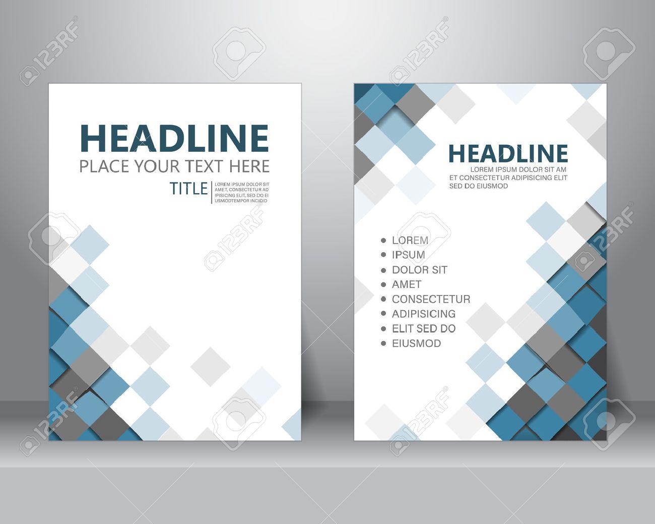 Formellen Business-Broschüre Vorlage Flyer Design-Layout Im A4 ...