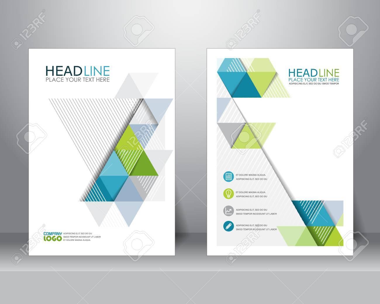 astratto business brochure modello di layout di progettazione in