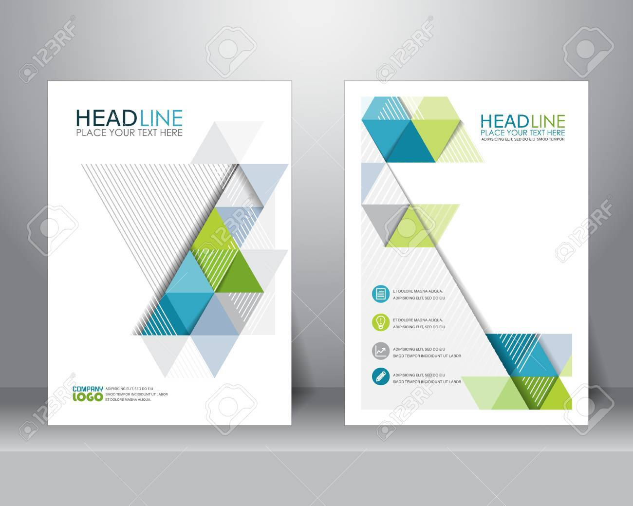 abstract business brochure design layout template in A4 size. can be use for poster, banner, graphic element, leaflet and background - 57157680