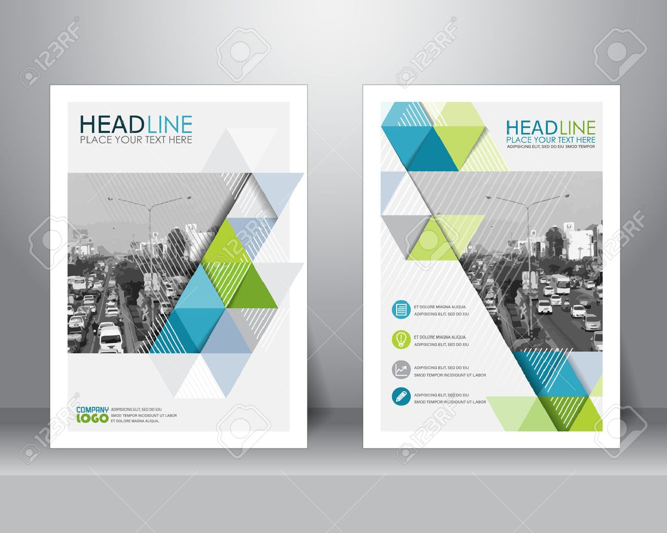formal business brochure design layout template in A4 size. can be use for poster, banner, graphic element, leaflet and background - 57465036