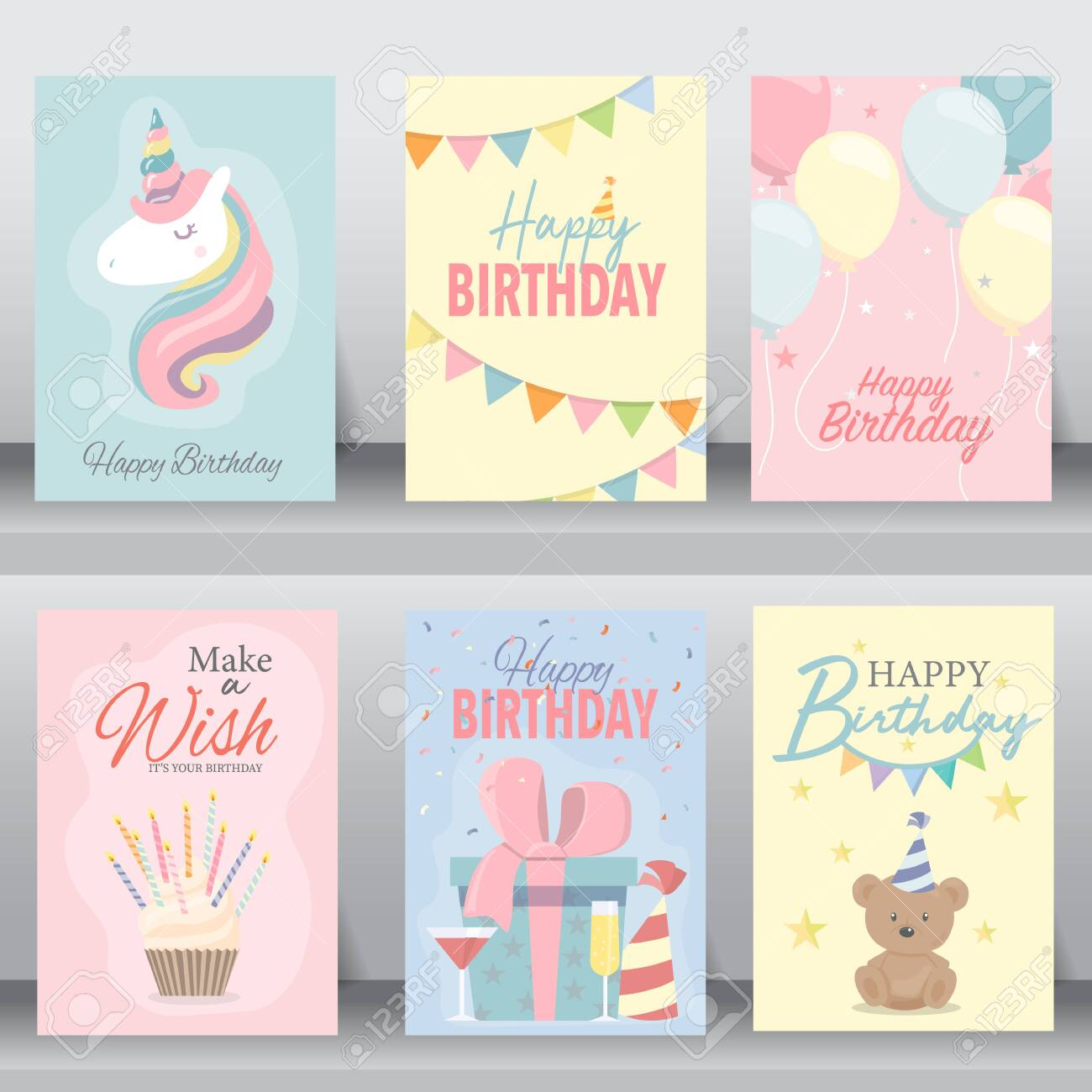 Happy birthday card. greeting and vitiation cards design baby..