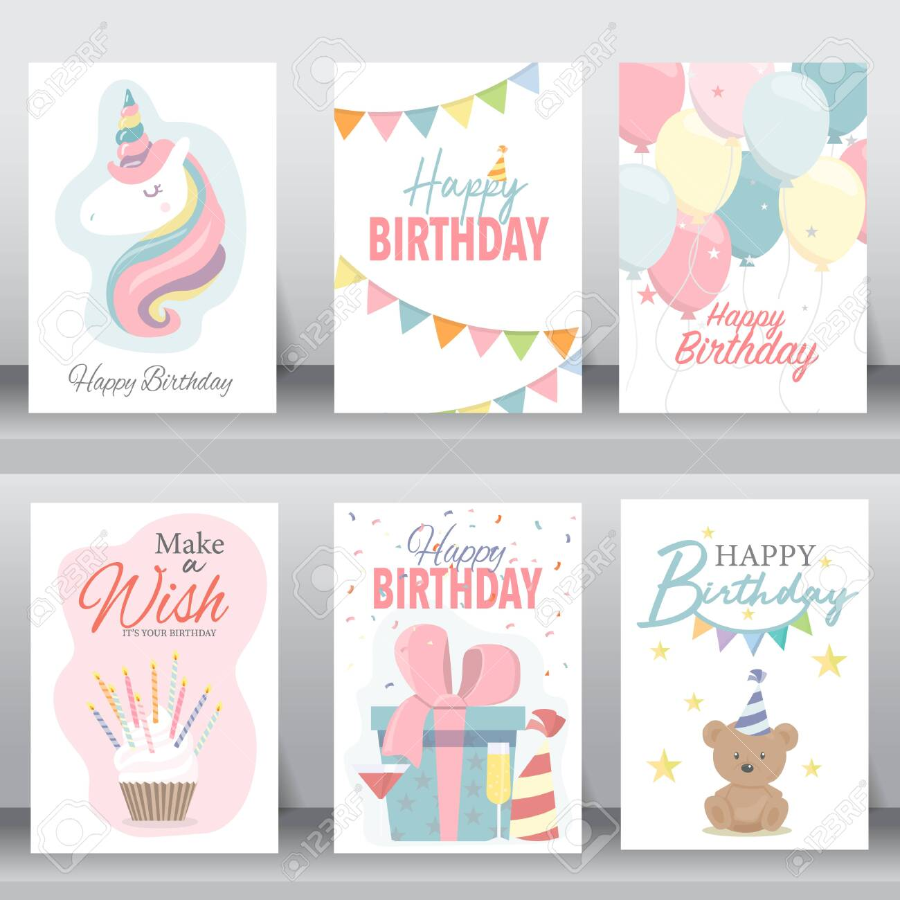 Happy Birthday Holiday Baby Shower Celebration Greeting And