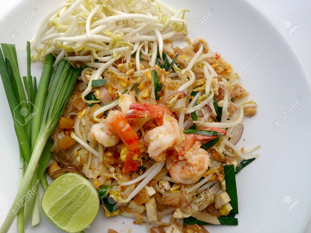 Pad Thai Stir Fried Rice Noodles With Shrimp The One Of Thailand S Stock Photo Picture And Royalty Free Image Image 56006943
