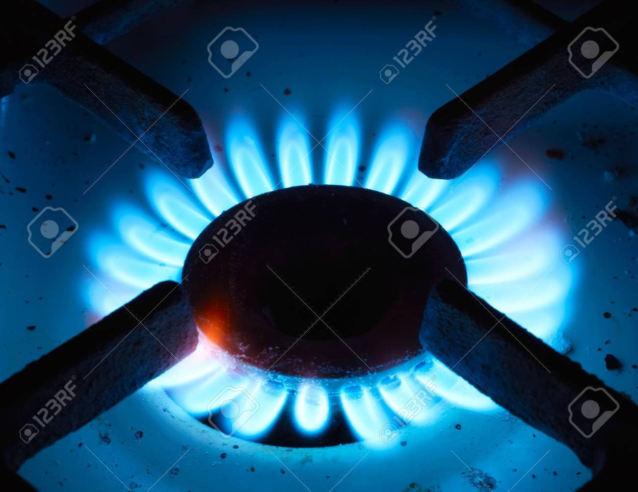 The close up gas burner on a background Stock Photo - 11083256