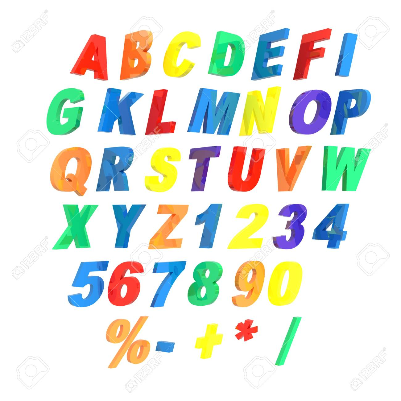 3d alphabet isolated on a white background Stock Photo - 12150956
