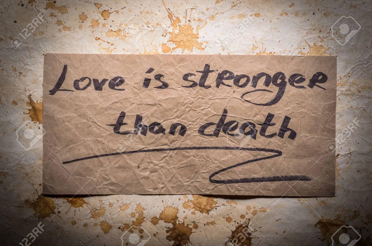 Frases Populares El Amor Es Más Fuerte Que La Muerte