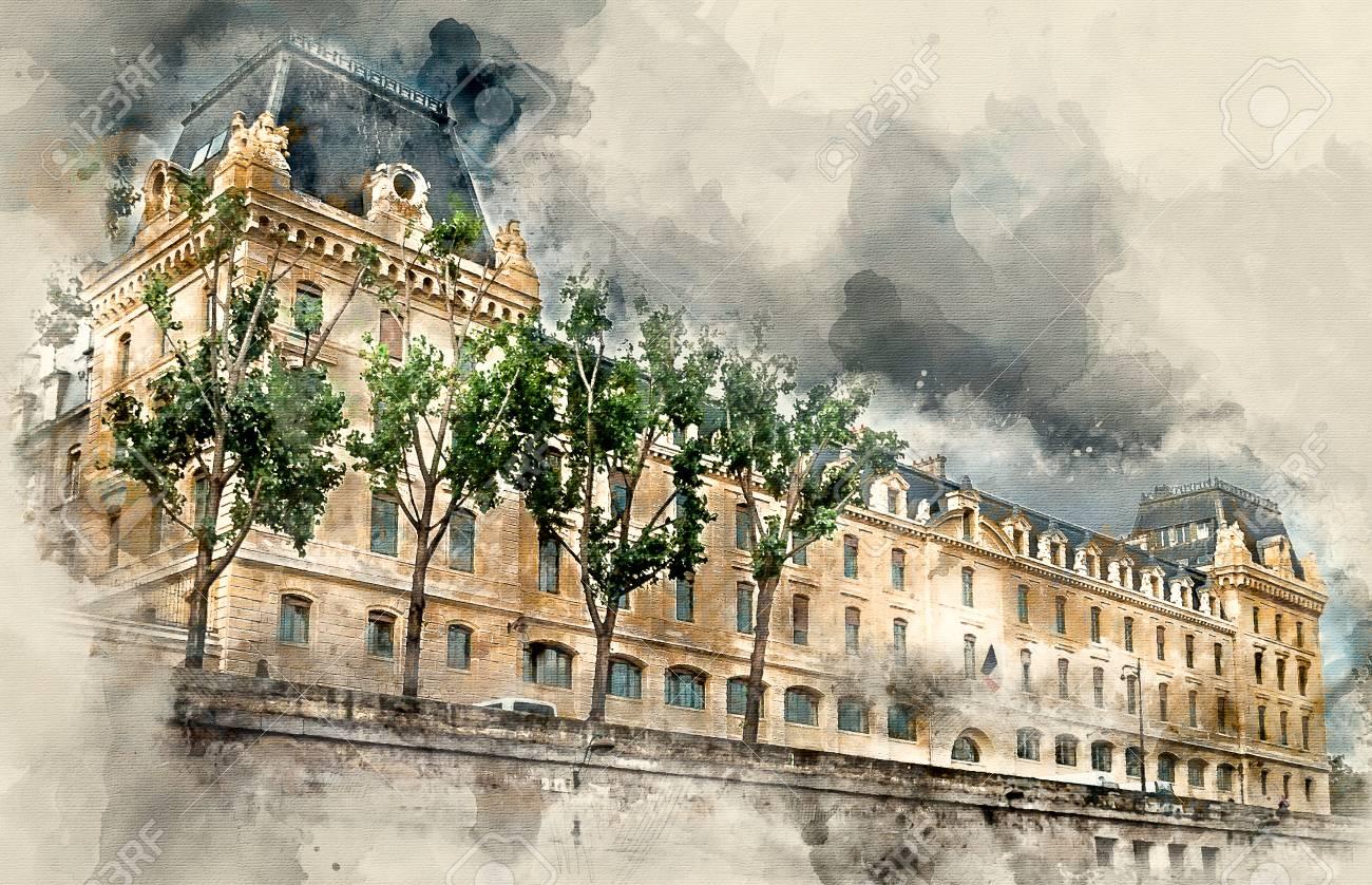 写真素材 , 古い建物と構造。パリの観光名所。観光スポット。都市景観