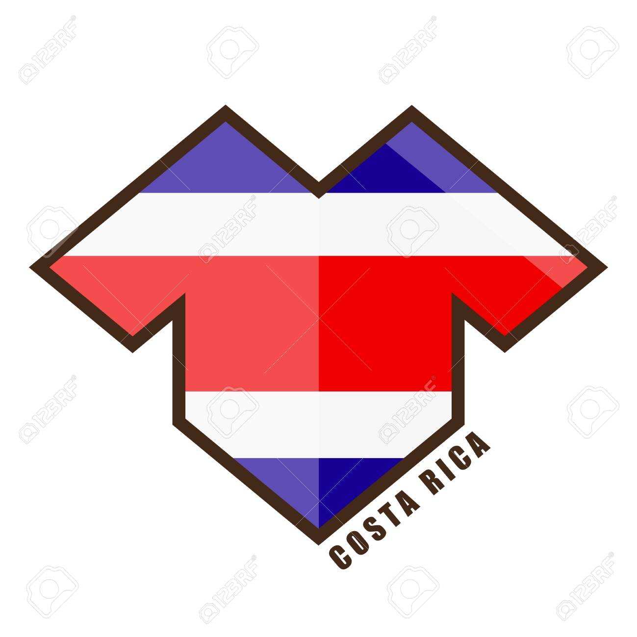 4c4dff558df Vector illustration. Football tournament 2018. Flag of Costa Rica. Stock  Vector - 91758855