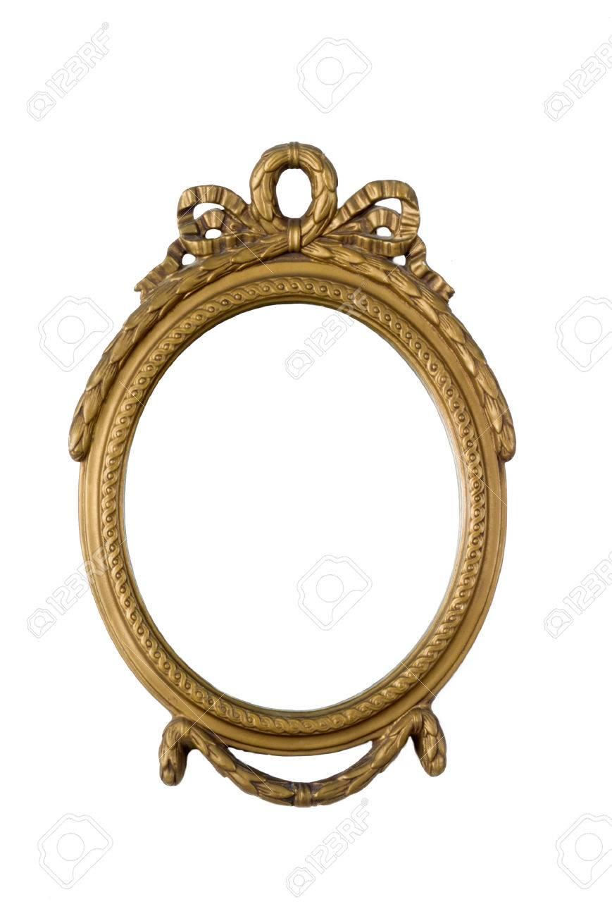 Viejo Marco Dorado Oval De Antigüedades Fotos, Retratos, Imágenes Y ...