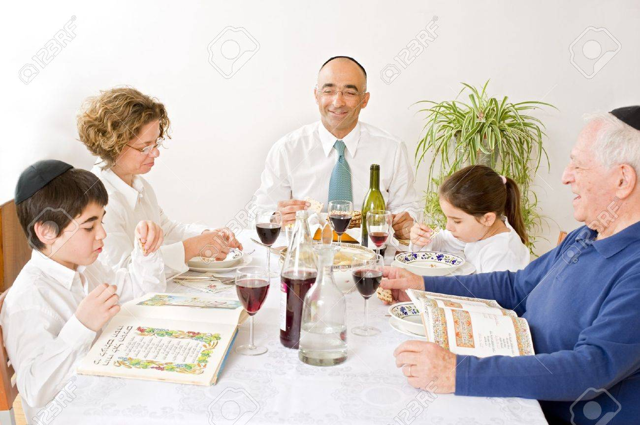 Jewish Passover Celebration Celebrating Passover Photo