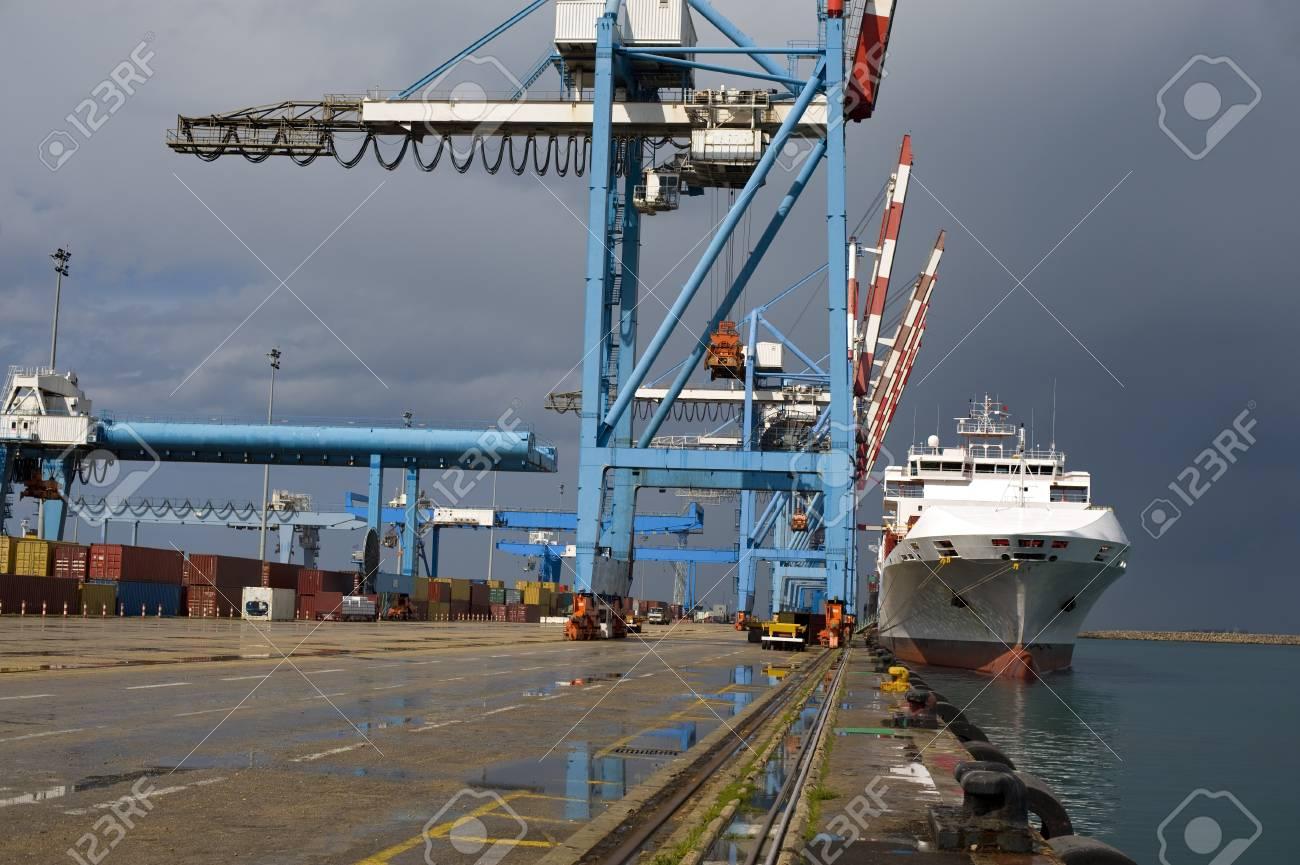 cargo ship at dock Stock Photo - 4397881