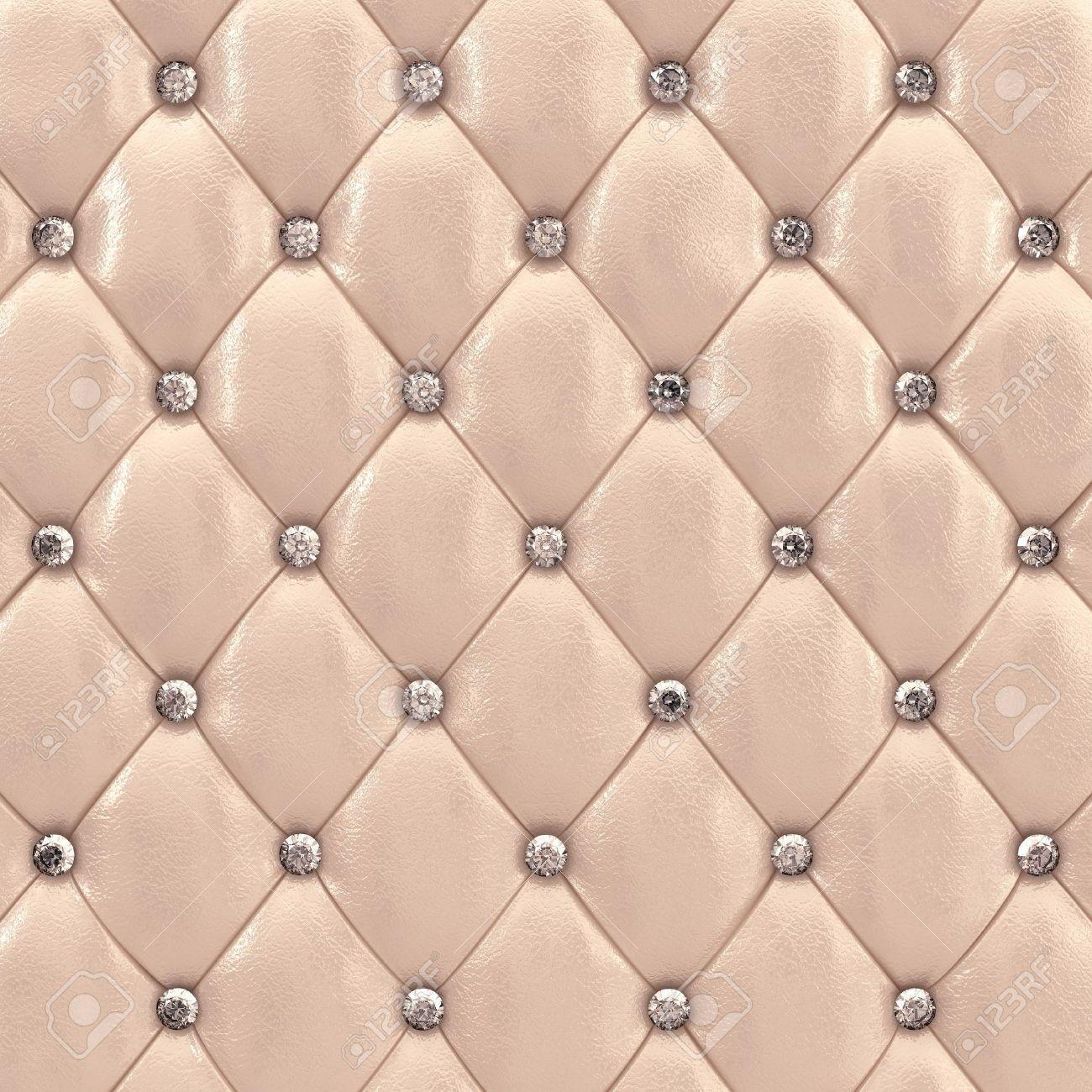Beige upholstery pattern with diamonds , 3d illustration Stock Illustration - 10746265