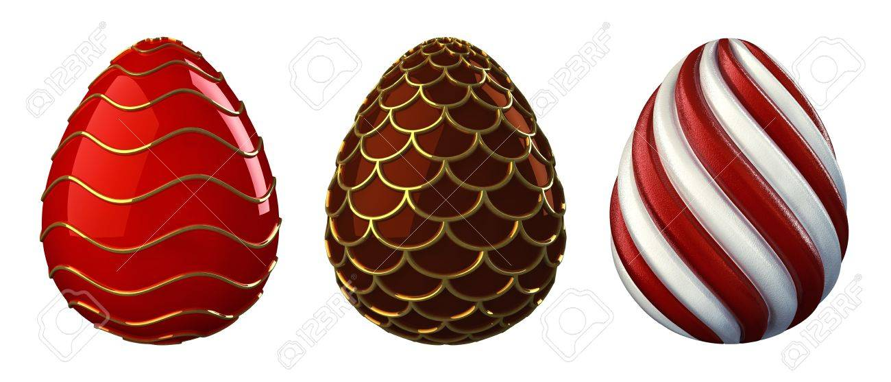 Decorative easter eggs , isolated on white Stock Photo - 12504746