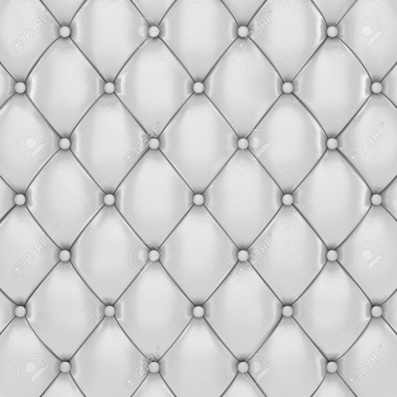 Leather cushion texture - Illustration White Leather Upholstery Pattern 3d Illustration