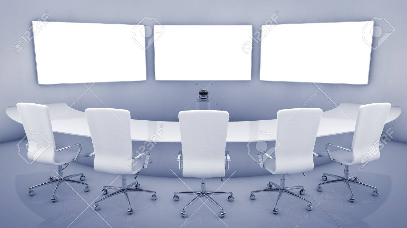 Modern Teleconferencing Room High Resolution Telepresence Interior