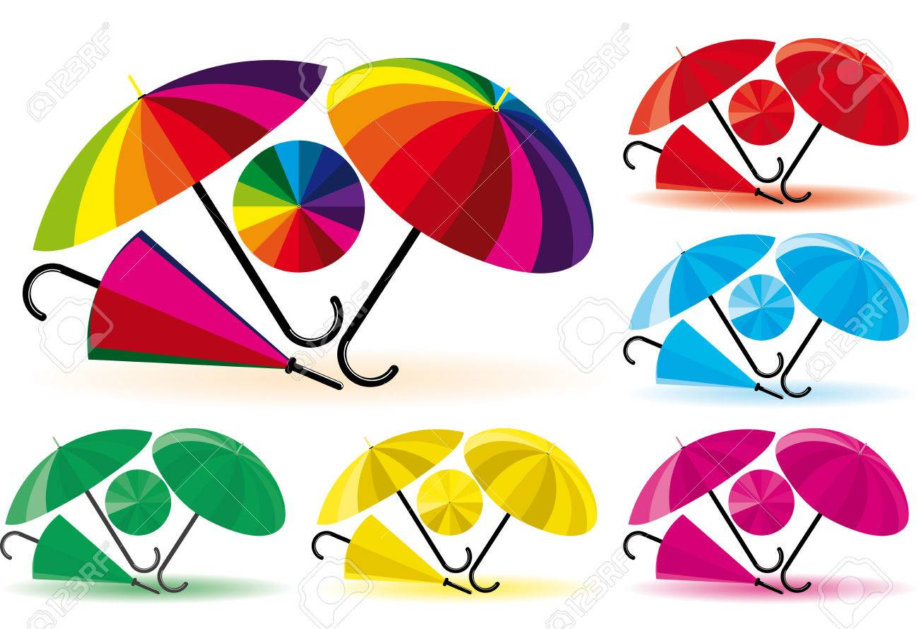 Umbrellas Stock Vector - 4217408