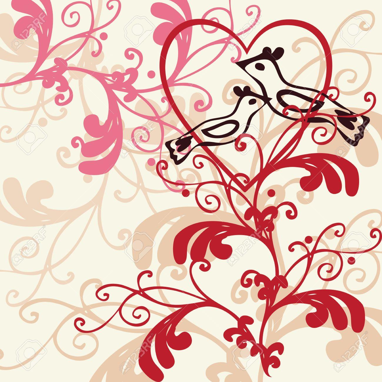 Vector background - valentine theme Stock Vector - 4217415